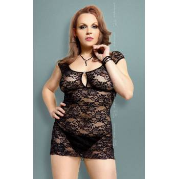 SoftLine Collection Linley Plus Size black 1739 koszulka i stringi