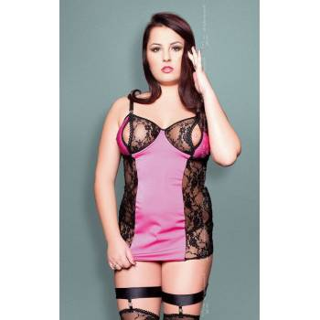 SoftLine Collection Nora Plus Size black and Pink