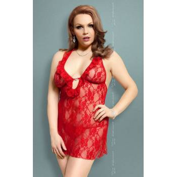 SoftLine Collection Carmen Plus Size red komplet