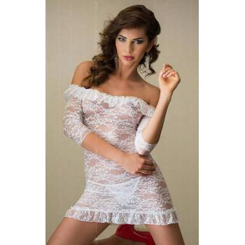 SoftLine Collection Agathe white 1808 koszulka i stringi