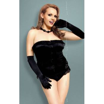 SoftLine Collection xIria Plus Size black gorset i stringi