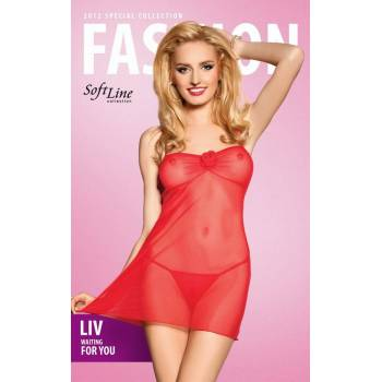 SoftLine Collection xLiv red 1018 koszulka i stringi