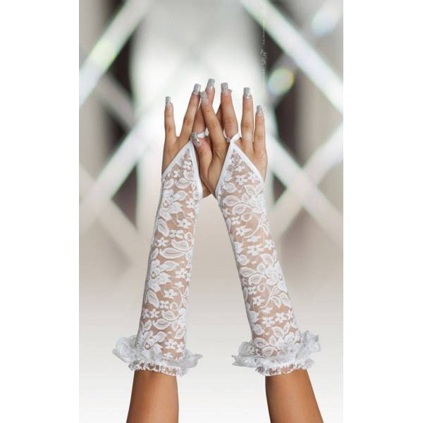 SoftLine Collection Gloves 7708 white rękawiczki