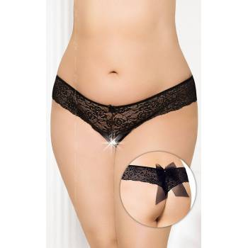 SoftLine Collection G-string 2436 Plus Size black figi