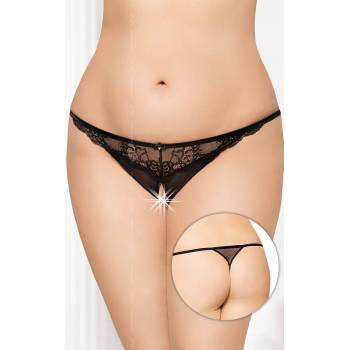SoftLine Collection G-string 2434 Plus Size black stringi