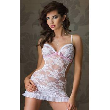 SoftLine Collection Agnese white 1806 koszulka i stringi