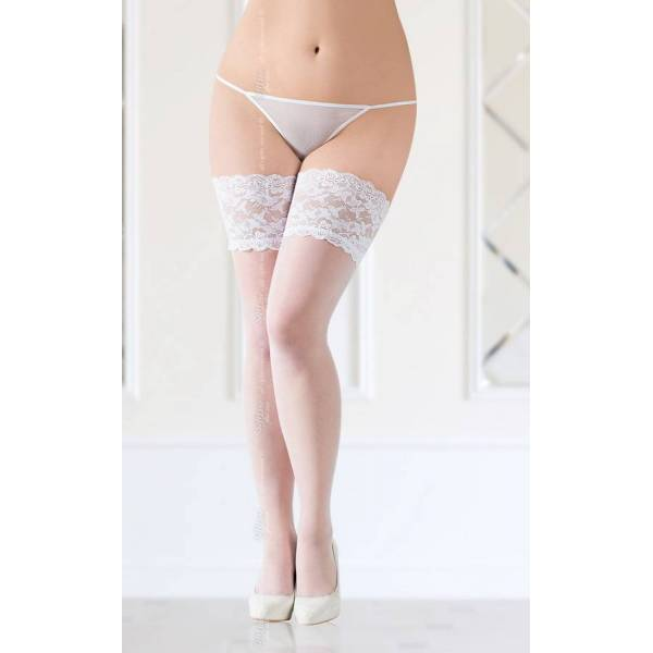 SoftLine Collection stockings 5508 plus size white pończochy