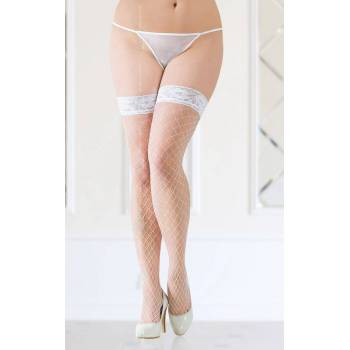 SoftLine Collection Stockings 5520 Plus Size white pończochy