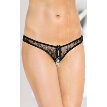 2465 String SoftLine Collection czarne stringi