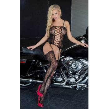 Floweret - Black 6268 bodystocking