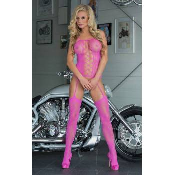 Floweret - Neon Pink 6268 bodystocking