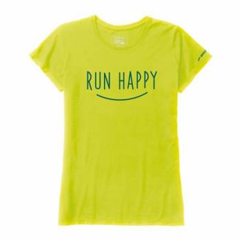 Womens Run Happy Smile SS T 221009305