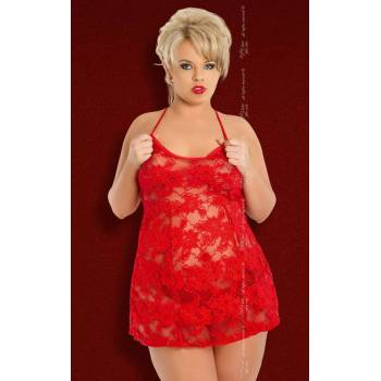 xAmanda - Plus Size - red 1500 koszulka i stringi