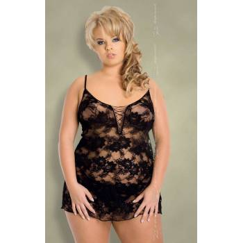 xLeticia - Plus Size - black 1627 koszulka i stringi